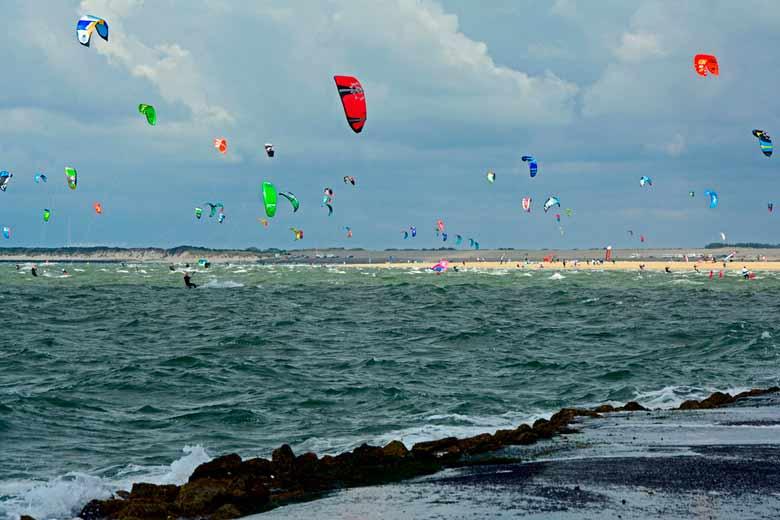 kitesurfles brouwersdam