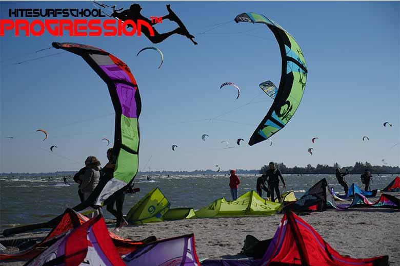 kitesurfles strand horst